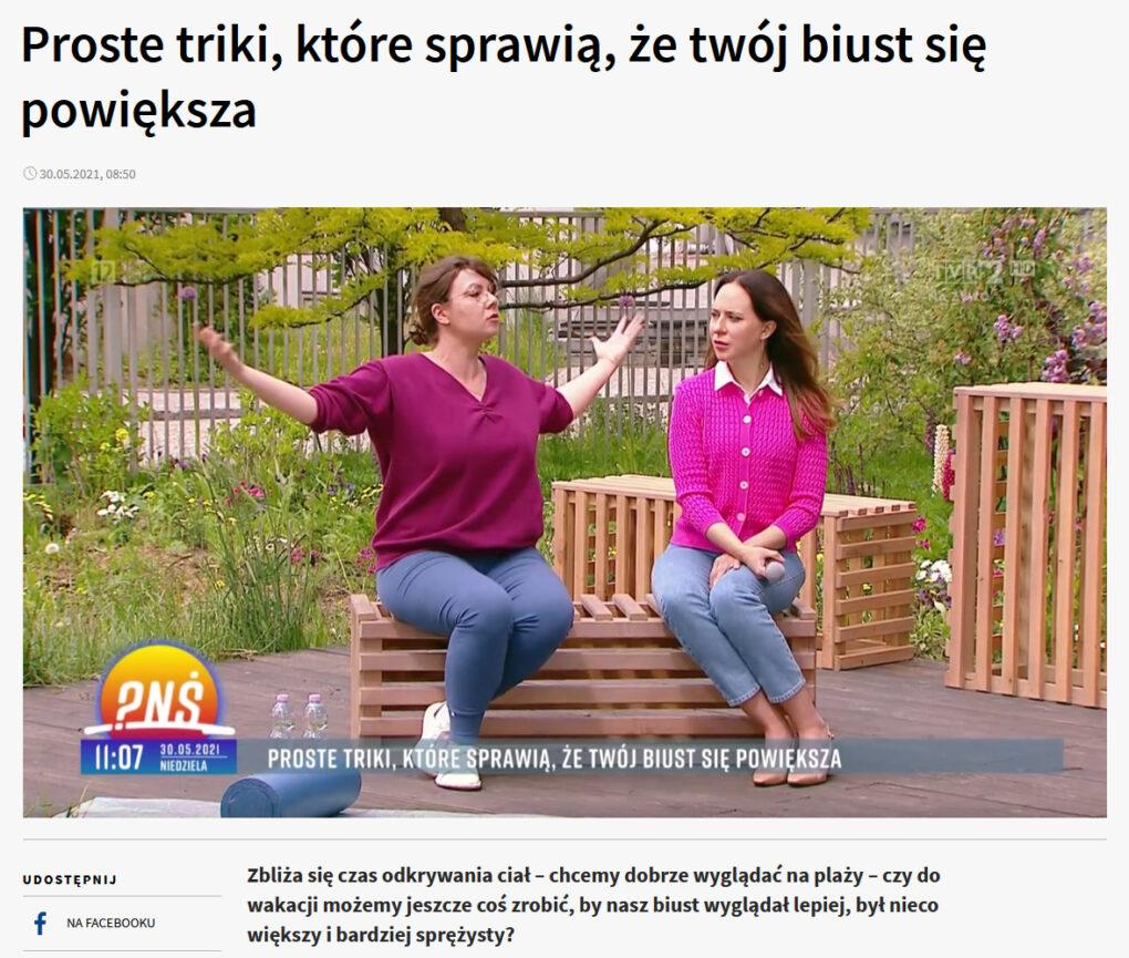 https://pytanienasniadanie.tvp.pl/54082037/proste-triki-ktore-sprawia-ze-twoj-biust-sie-powieksza wywiad dla tvp 2